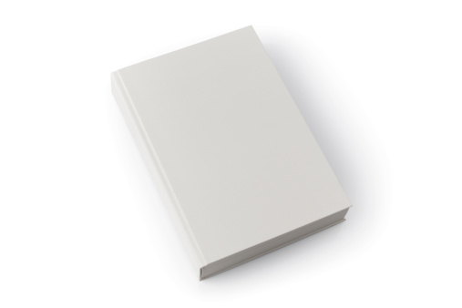 Book Cover「Light gray blank book with shadow against white background」:スマホ壁紙(4)
