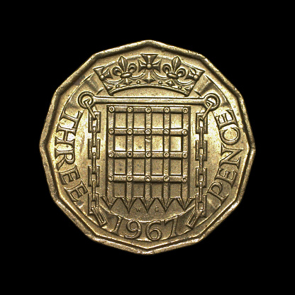 1967「Twelve-sided threepenny bit old English coin 1967 reverse」:スマホ壁紙(9)