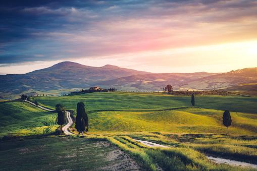 Gladiator「Road over Tuscany hills」:スマホ壁紙(1)