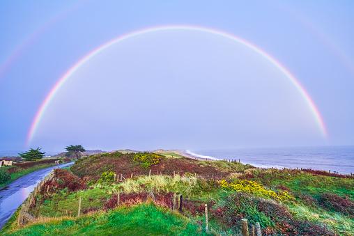 Rainbow「Full Rainbow after an evening shower of rain」:スマホ壁紙(11)