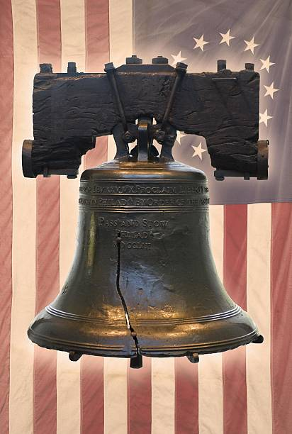 Liberty Bell and American flag with thirteen stars:スマホ壁紙(壁紙.com)