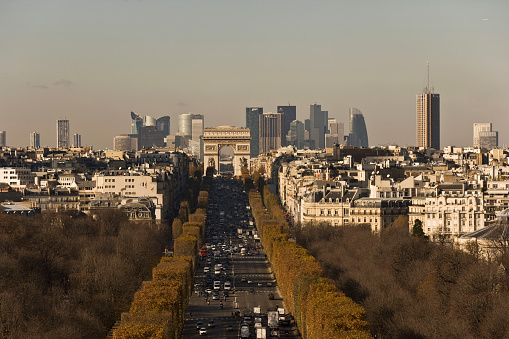 Arc de Triomphe - Paris「Champs-Elysees seen from ferris wheel in Place de la Concorde」:スマホ壁紙(0)