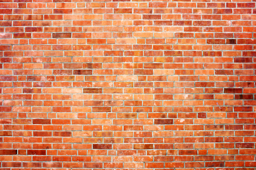 赤「Brick wall」:スマホ壁紙(6)