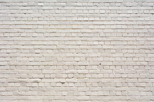 レンガ「Brick Wall painted White」:スマホ壁紙(19)