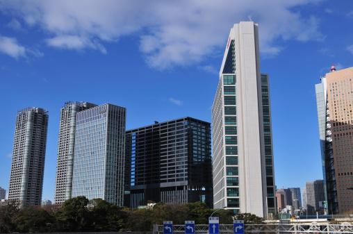東京都中央区「Skyline, Shiodome, Chuo ward, Tokyo Prefecture, Honshu, Japan」:スマホ壁紙(14)