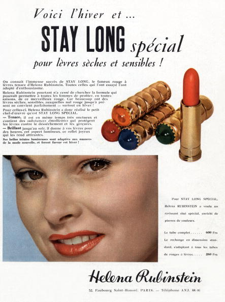 L'Oreal「French advertisement for Helena Rubinstein lipstick, 1952」:写真・画像(10)[壁紙.com]
