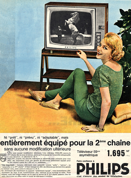 Archival「French advert for the television Philips , publishing during 1960」:写真・画像(7)[壁紙.com]
