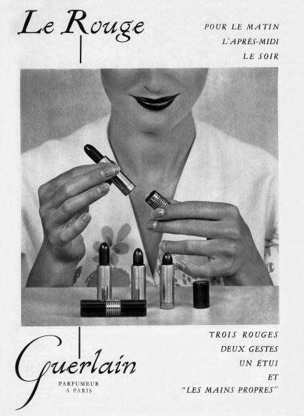 Lipstick「French advertisement for lipsticks by Guerlain, 1953」:写真・画像(3)[壁紙.com]