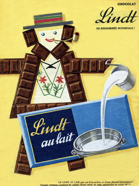 Milk Chocolate「French advertisement for Lindt milk chocolate, november 1957」:写真・画像(10)[壁紙.com]