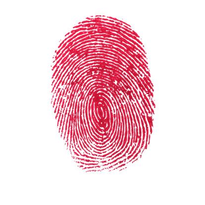 Unhygienic「Red Isolated Fingerprint On White Background」:スマホ壁紙(18)