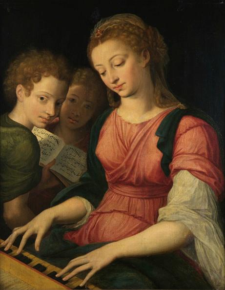 Protection「Saint Cecilia. Creator: Coxcie (Coxie)」:写真・画像(18)[壁紙.com]