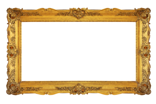 Art And Craft「Old revival golden picture frame (clipping path)」:スマホ壁紙(9)