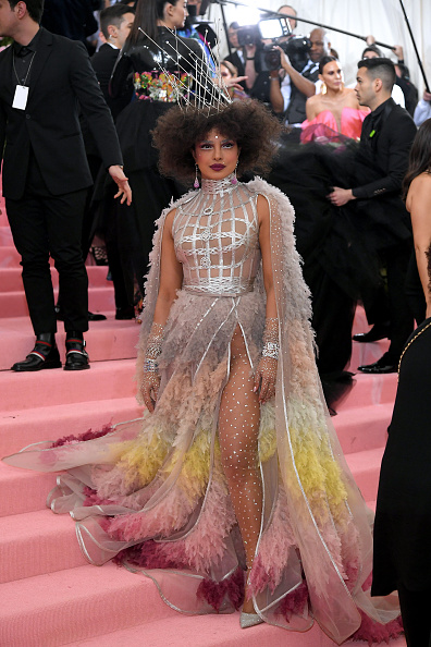 Silver Colored「The 2019 Met Gala Celebrating Camp: Notes on Fashion - Arrivals」:写真・画像(18)[壁紙.com]