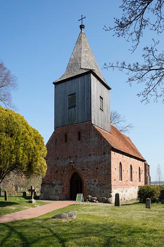 Circa 14th Century「Old parish church, Gross Zicker, Moenchgut, Ruegen, Germany」:スマホ壁紙(17)