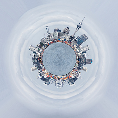 Planet Earth「Cross section view of cityscape around globe」:スマホ壁紙(6)