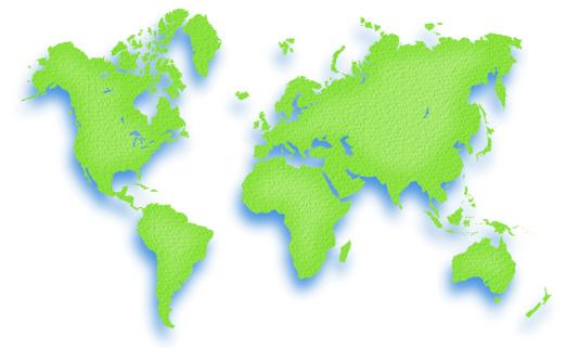 世界地図「Green world map with blue shadow」:スマホ壁紙(16)