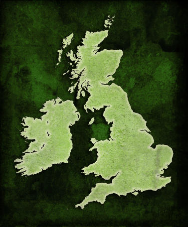 Continent - Geographic Area「Green World UK map」:スマホ壁紙(13)