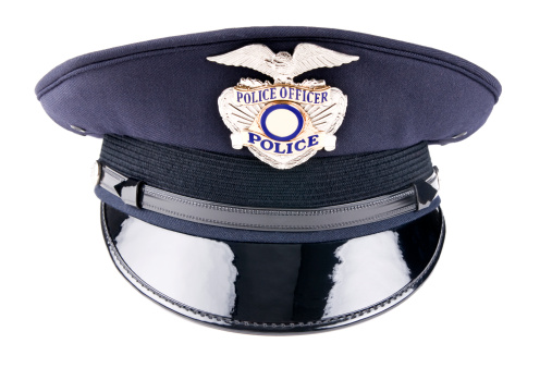 Emergency Services Occupation「A blue police cap against a white background」:スマホ壁紙(3)