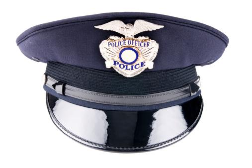 Uniform「A blue police cap against a white background」:スマホ壁紙(7)