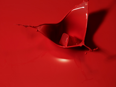 Color Image「Red liquid splashing」:スマホ壁紙(16)