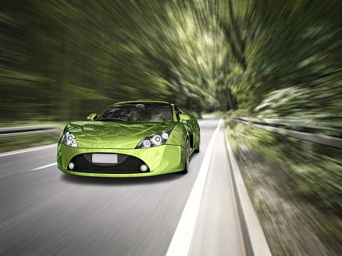 Sports Car「supercar in forest」:スマホ壁紙(3)