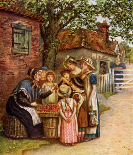 絵「'The cherry woman' by Kate Greenaway.」:写真・画像(15)[壁紙.com]