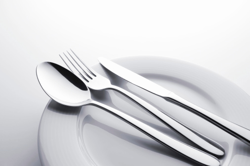 Silver Colored「Fork knife and spoon set」:スマホ壁紙(1)