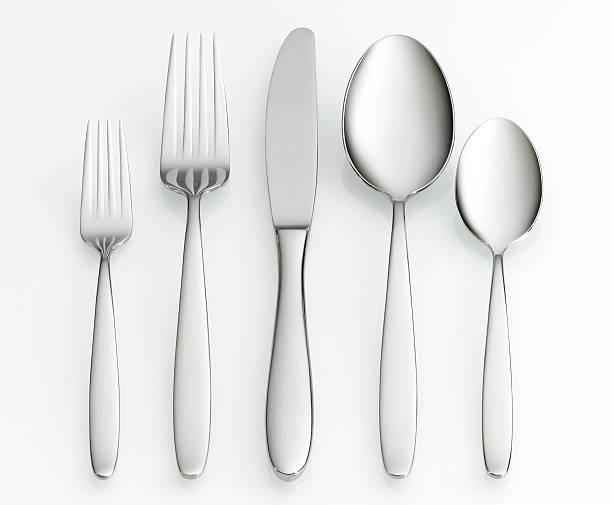 Fork, knife and spoon set:スマホ壁紙(壁紙.com)