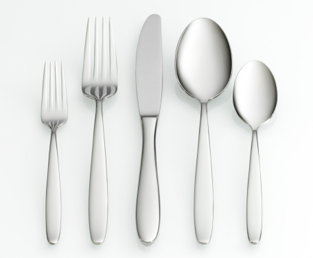 Metallic「Fork, knife and spoon set」:スマホ壁紙(11)