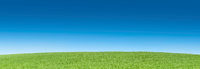 Hill「Perfect green field summer blue sky background landscape panorama」:スマホ壁紙(4)