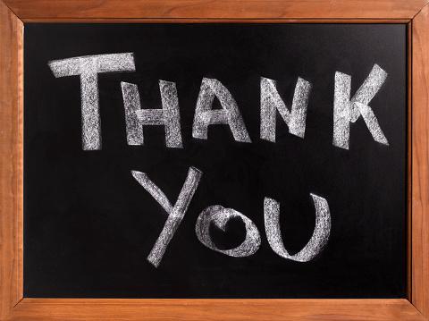Chalk - Art Equipment「Thank you black board」:スマホ壁紙(1)
