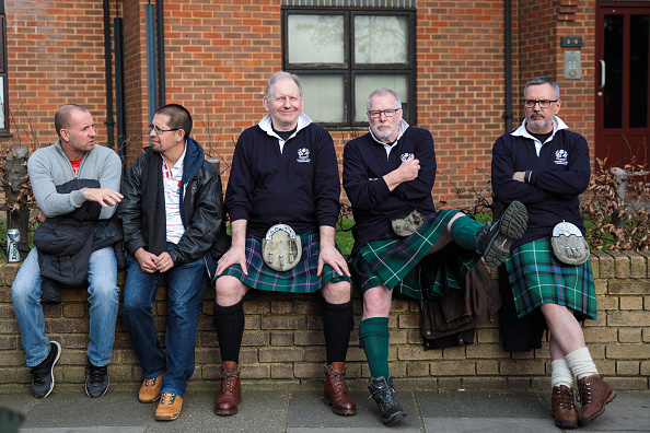 Kilt「Rugby Fans Gather For Six Nations England Versus Scotland Crunch Match」:写真・画像(6)[壁紙.com]