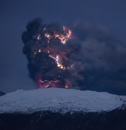 Active Volcano「Lightning, lava, ash, Eyjafjallajokull 」:スマホ壁紙(19)