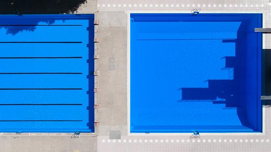 Diving Platform「Open-air swimming pool, aerial view」:スマホ壁紙(18)