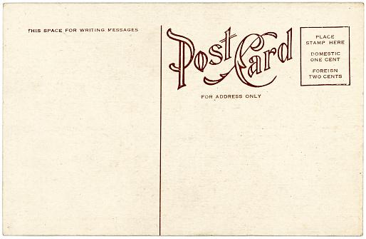 Letter - Document「Background image of a blank beige vintage back of a postcard」:スマホ壁紙(8)