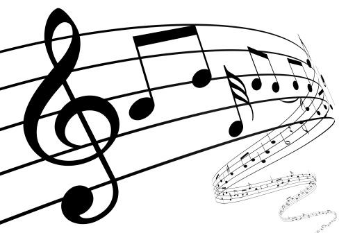 Classical Music「3d music notes dancing away」:スマホ壁紙(15)