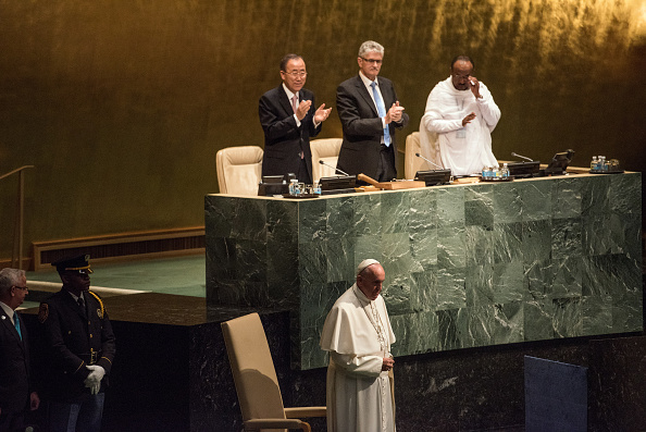 Medium Group Of People「Pope Francis Addresses The United Nations General Assembly」:写真・画像(2)[壁紙.com]