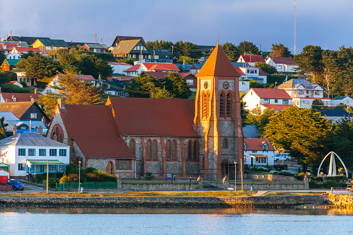 Port Stanley - Falkland Islands「Christ Church cathedral on the waterfront in town」:スマホ壁紙(7)