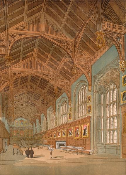 Ceiling「'Christ Church Hall, Oxford', c1845,」:写真・画像(12)[壁紙.com]