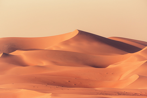 Orange Color「Empty Quarter Desert Dunes Rub' al Khali Landscape」:スマホ壁紙(5)