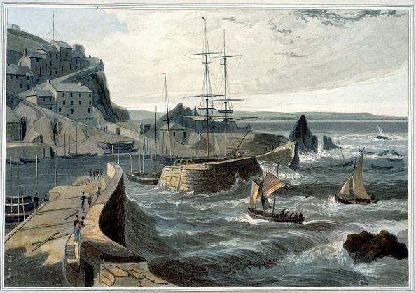 自然・風景「Mevagissey Cornwall' 1825」:写真・画像(15)[壁紙.com]