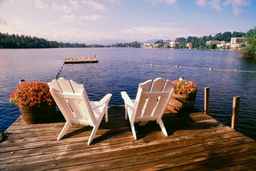 アディロンダック森林保護区「Chairs on deck, Adirondack Park, USA  」:スマホ壁紙(9)