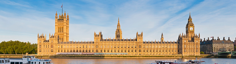 Gothic Style「London House of Parliament Westminster Palace panorama」:スマホ壁紙(11)