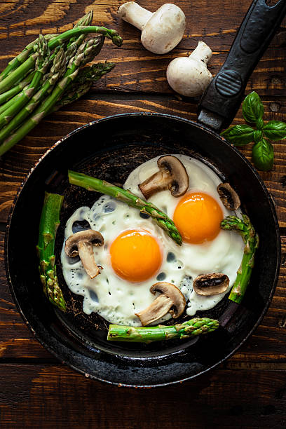 Fried Eggs With Asparagus:スマホ壁紙(壁紙.com)