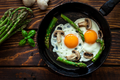 Vegetarian Food「Fried Eggs With Asparagus」:スマホ壁紙(18)