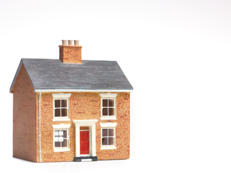 Model - Object「House on white background with copy space」:スマホ壁紙(19)