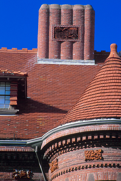 Brick Wall「Roof detail. Sever Hall. Harvard University, Massachussetts, USA.」:写真・画像(3)[壁紙.com]