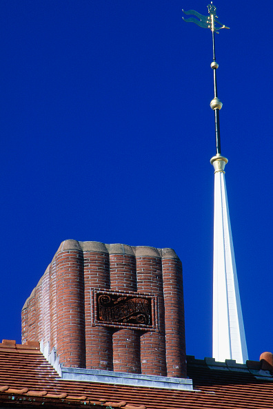 Wall - Building Feature「Roof detail. Sever Hall. Harvard University, Massachussetts, USA.」:写真・画像(1)[壁紙.com]