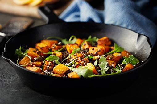 Arugula「roasted butternut squash with green lentils and rocket leaves」:スマホ壁紙(19)