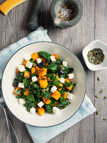 Bowl「roasted butternut squash with kale and feta cheese」:スマホ壁紙(15)